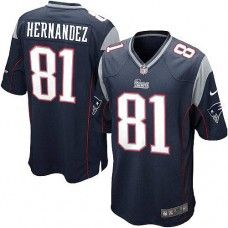 43906afa6 ... Mens Blue NIKE Game New England Patriots 81 Aaron Hernandez Team Color  NFL Jersey ...