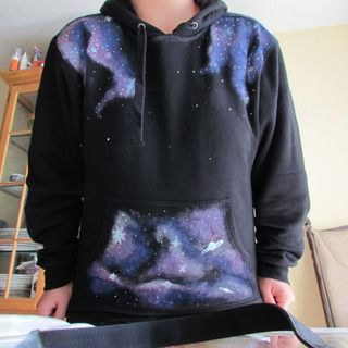 "DIY ""Galaxy"" Sweatshirt It's soo dope can't wait to try"