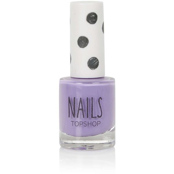 TOPSHOP Nails in Old Gal ($7.83) ❤ liked on Polyvore featuring beauty products, nail care, nail polish, nails, lavender, topshop nail polish, lavender nail polish, light purple nail polish and topshop