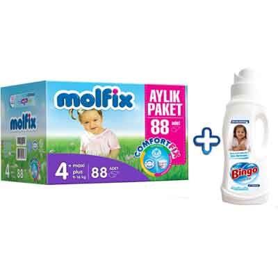Molfix Comfort Fix Aylık Paket Maxi Plus 4+ Numara Bebek Bezi 88 Adet