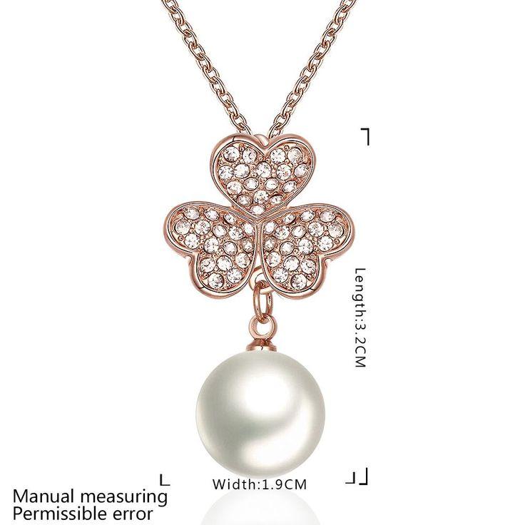 Романтические розовые позолоченные ожерелья для женщин Rhinestone для женщин GPP134 1