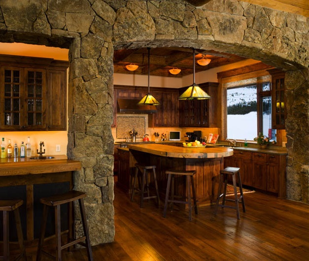 Interior Stone Wall Kitchen: 14 Best INTERIOR STONE ARCHWAYS Images On Pinterest