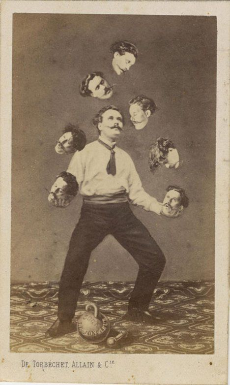 Photo manipulation is no big deal today, but before digital tools made it simple to make the impossible appear real it took a masterful artist. An exhibit at the Metropolitan Museum of Art is paying tribute to some of the incredible photo manipulations that predate Photoshop by years, decades, and in some cases more than a century. This man juggling his own heads is from 1880!
