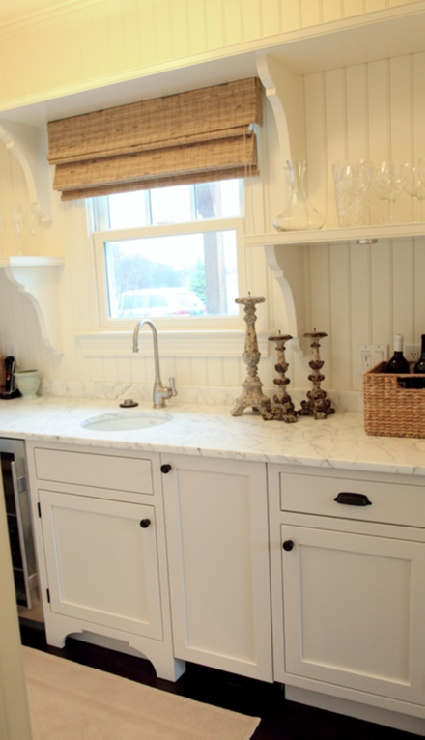 , Marbles Countertops, Cottages, White Cabinets, White Kitchens