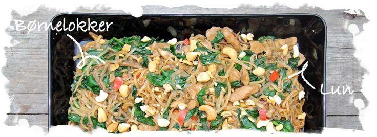 Lun salat m. kylling, spinat og risnudler
