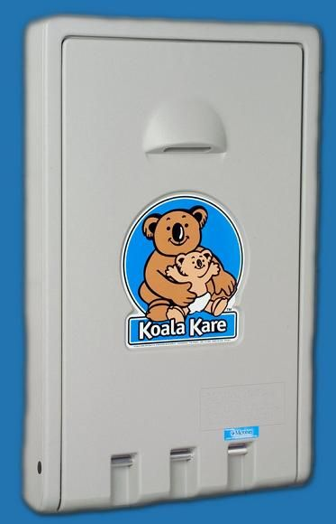 KB101-01 Vertical Koala Kare Grey Baby Change Table