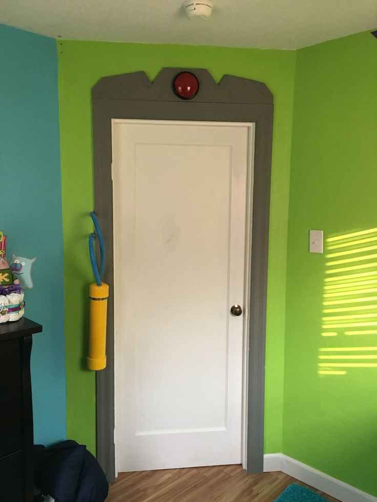 Baby Nursery Monsters Inc Door #monstersinc #disney #nursery