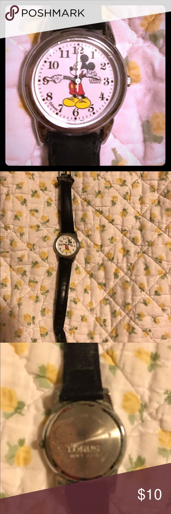 Lorus Mickey Mouse Watch Vintage Mickey Mouse watch. Needs battery and band because band is very worn. lorus Accessories Watches