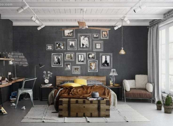 Paint a chalkboard background to easily alter the look of your gallery wall.