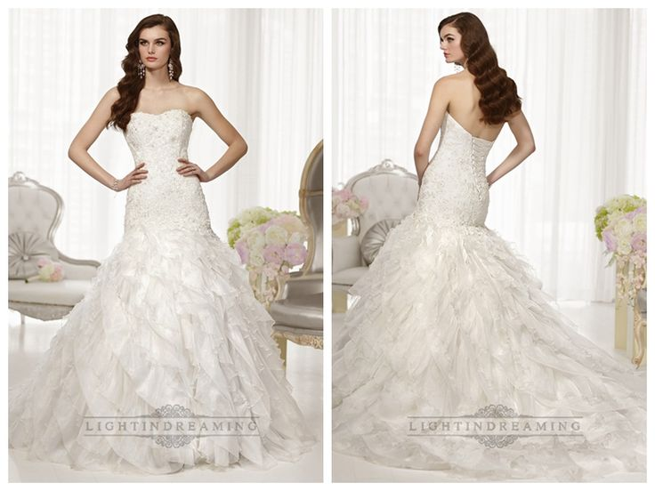 Fit and Flare Semi Sweetheart Neckline Wedding Dresses with Pleated   Skirt http://www.ckdress.com/fit-and-flare-semi-sweetheart-neckline-wedding-  dresses-with-pleated-skirt-p-512.html  #wedding #dresses #dress #lightindream #lightindreaming #wed #clothing   #gown #weddingdresses #dressesonline #dressonline #bride