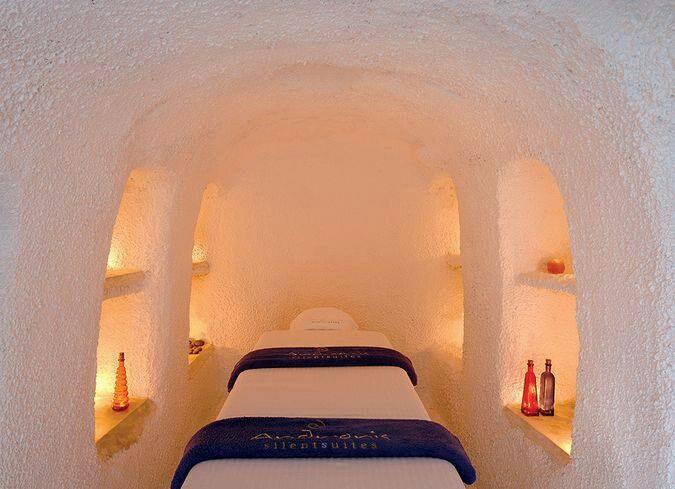 Santorini island greece tanning bin