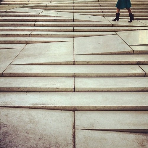 This could be nice because it incorporates a wheel chair ramp into the stairs! (steps that die into each other)
