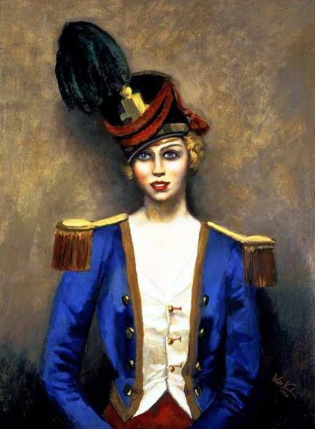Girl In Uniform, Walt Kuhn