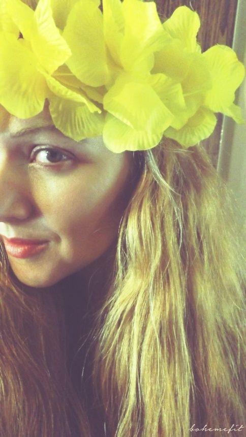 ☽ wreath 'yellow hawaii' ☾ #diy #hair