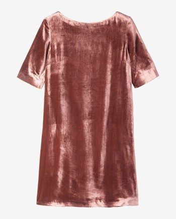 Women's Silk Velvet Shift Dress