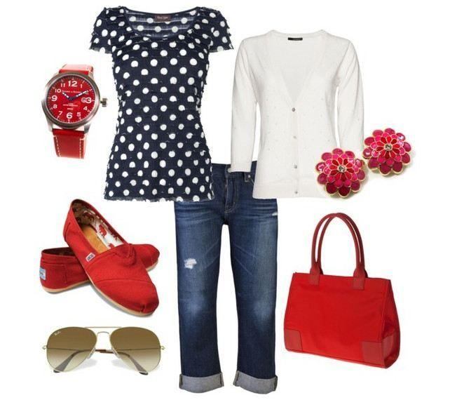 red & polka dots (: