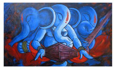 "Saatchi Online Artist sanjay kumar; Painting, ""ganesha _05"" #art"