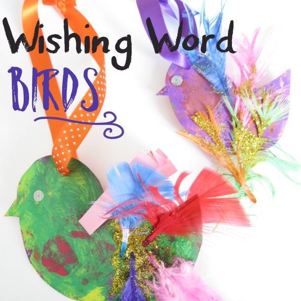 make a wishing word bird story craft writing story craft bird craft for - Picture For Children