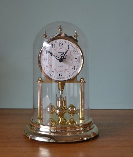 Vintage Koma dome clock rotating Pendulum West Germany