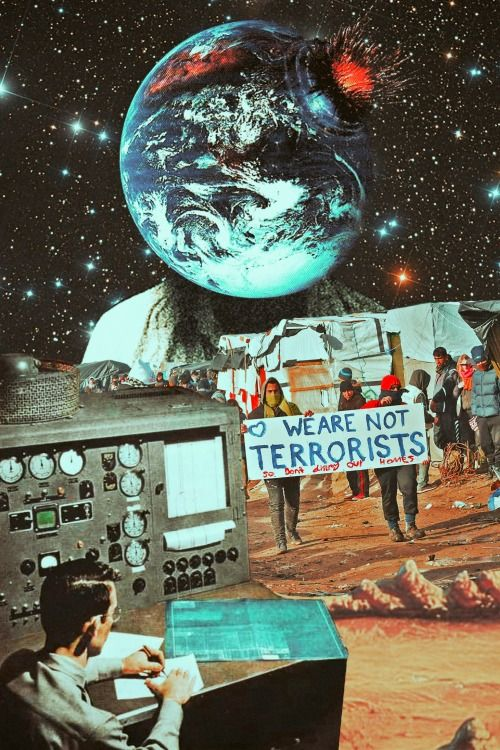 The Clear Message. Surreal Mixed Media Collage Art By Ayham Jabr.