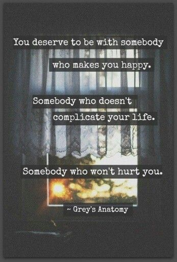 Somebody who wont hurt you...