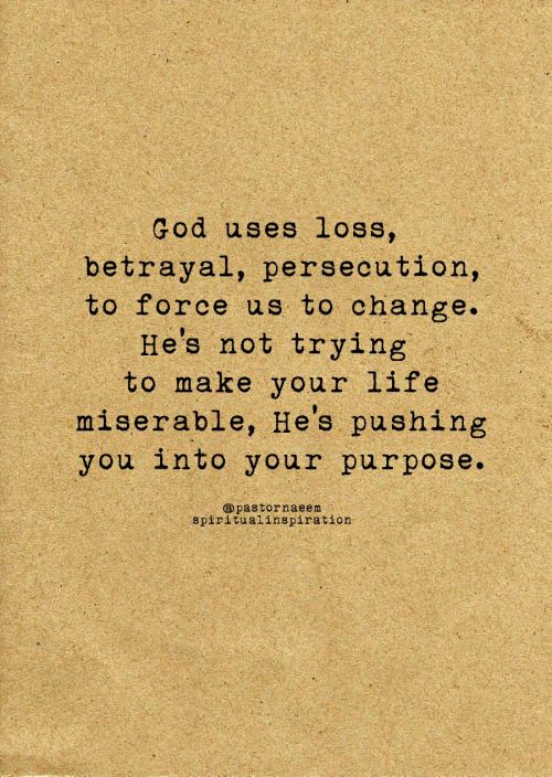 Pushing you into your purpose...