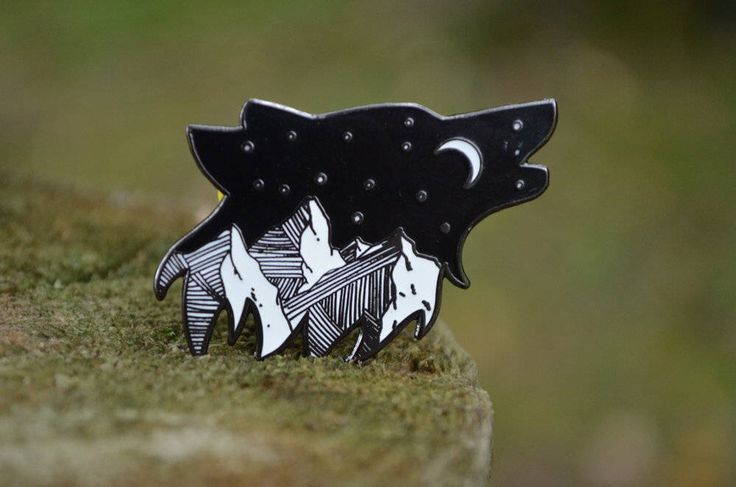 FOR NICOLE or to Remember HER Howling Wolf Enamel Pin by RambleOnSupplyCo on Etsy