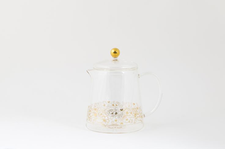 A #versatile #glass #teapot with a #gold #birdy #design, perfect for #displaying #flowering #tea or to #brew #loose #leaf tea using the #filter. #Hot & #cold #resistant #quality #glass. #Dishwasher & #microwave #safe. lyndalt.com