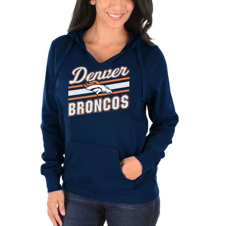 Denver Broncos Majestic Women's Highlight Play Hoodie - Navy