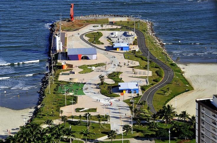 Emissário da Cidade de Santos SP Brasil