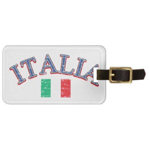Italy football design bag tag