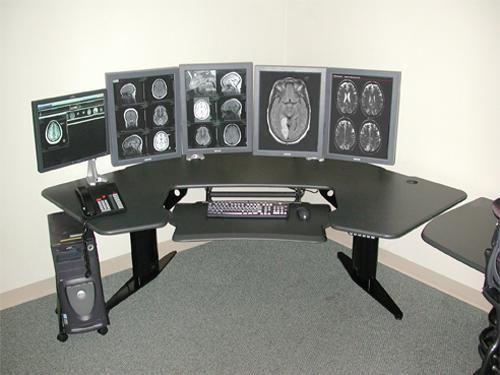Pro Desk, Motorized, Charcoal