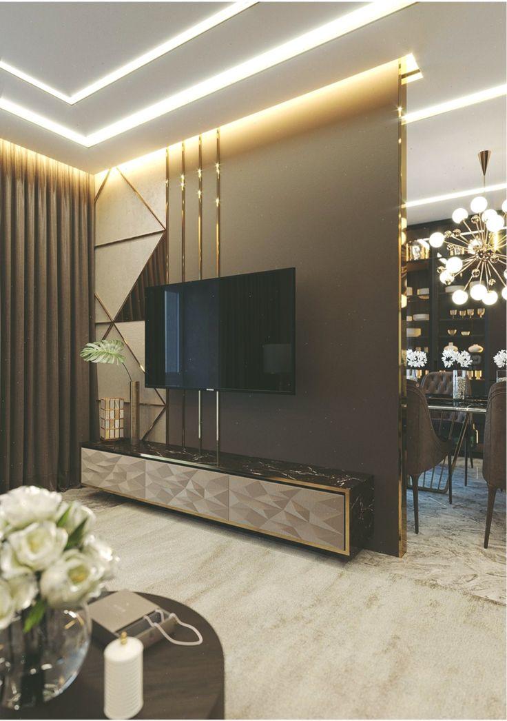 #tv unit Partition Living room. #livingroomtvunits #Living ...