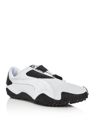 PUMA Mostro Perforated Leather Sneakers. #puma #shoes #sneakers