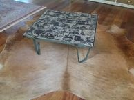 Industrial Timber and Iron Coffee Table