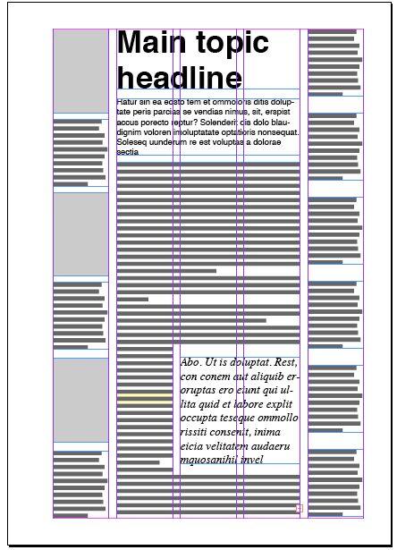 Magazine columns and their layout options | Magazine Designing