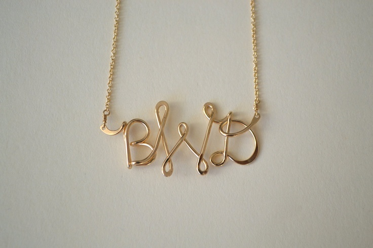 Custom Monogram Necklace. $78.00, via Etsy. @Emily Harris