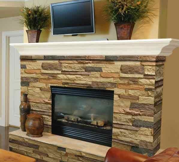 43 best fireplace options images on pinterest fire for Fireplace material options