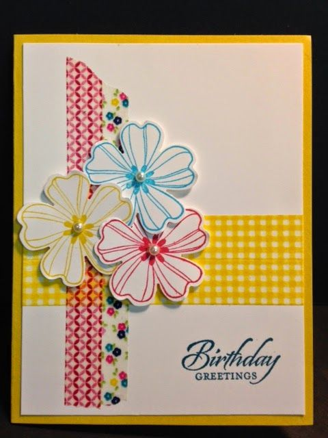Flower Shop  Birthday Card, Stampin' Up!, Rubber Stamping,  Handmade Cards