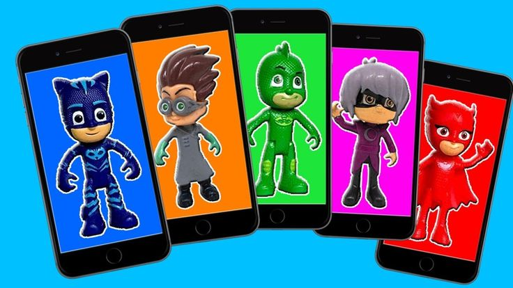 PJ Masks Wrong Heads Mobile Phones Finger Family - Learn Colors with Pj ...