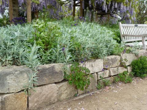 Steingarten mit Hochbeet