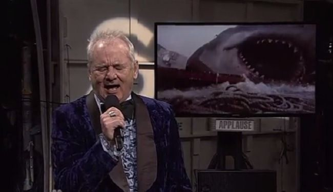 Bill Murray Returned To #SNL40 To Sing The Lost Theme Song From 'Jaws'