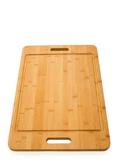 Cooks Tools™ Large Bamboo Cutting & Carving Board with Handles