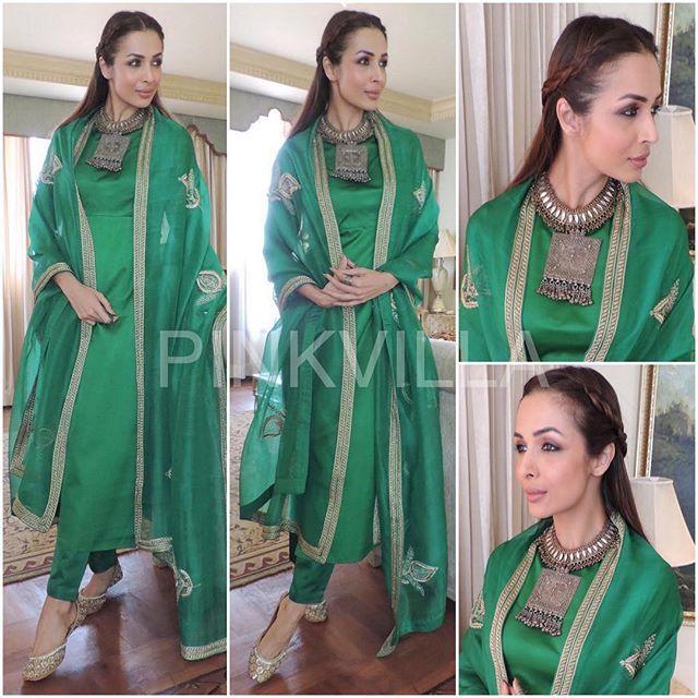 Who : @MalaikaAroraKhanOfficial Where : At a launch event #Hyderabad  Wearing : @Raw_Mango Outfit and @DilipSoni13 Necklace • Stylist : @ManekaHarisinghani Hair : @PallaviSymons Make Up : @AlpaKhimani • #Bollywood #Fashion #Style #Beauty #Glam #IndianFashion #CelebStyle #CelebFashion #BollywoodFashion #BollywoodActress #Ootn #Ootd #MalaikaAroraKhan #RawMango