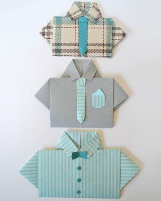 Открытка оригами на день рождения рубашка