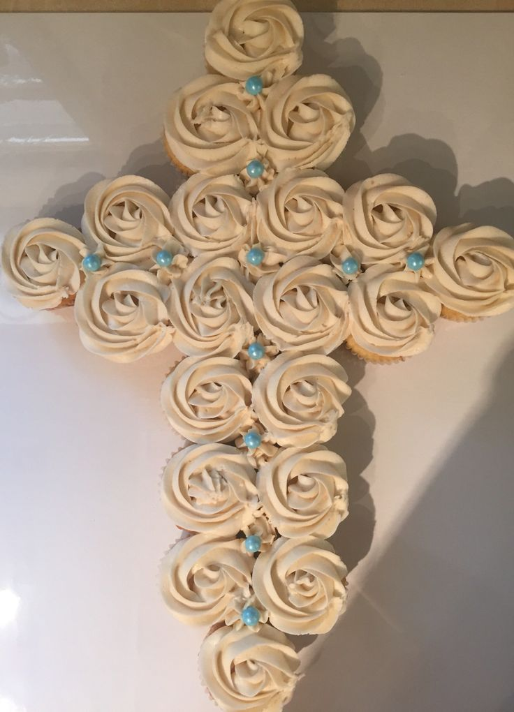 Cross Shaped Cupcake Cake