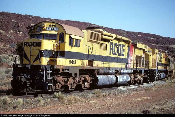 RailPictures.Net Photo: 9413 9412 Robe River Iron Associates MLW M636 at Port Lambert, Australia by Scott Fitzgerald