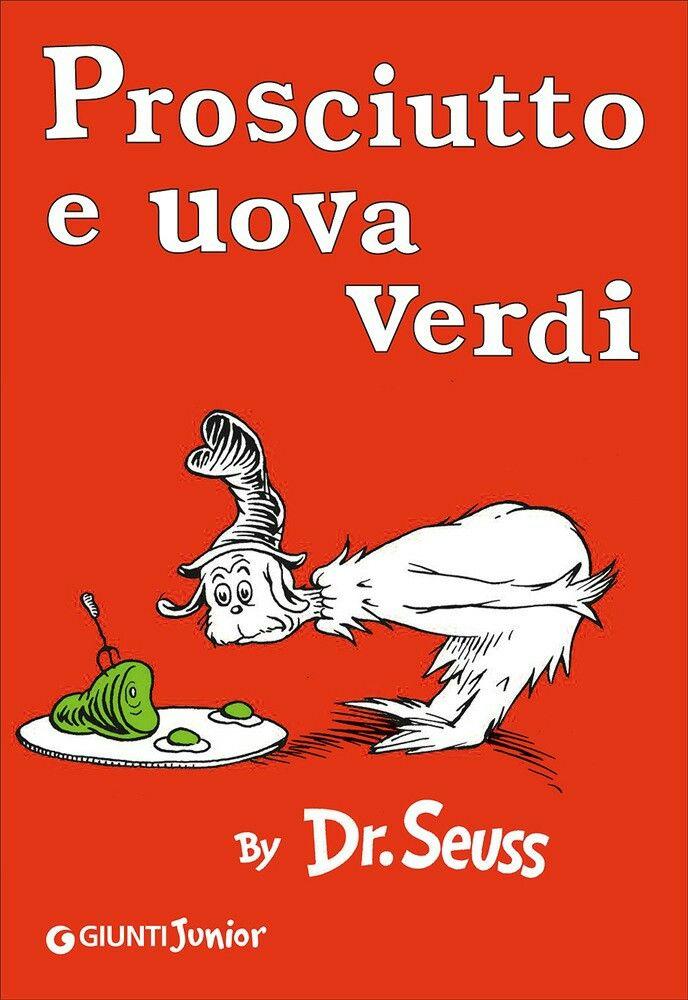 """""""Prosciutto e uova verdi"""" Dr. Seuss La storia di un rapporto fra due personaggi: il propositivo Nando, detto Ferdi offre prosciutto e uova verdi, da lui ritenute buonissime. L'altro però, non ne vuol sapere nulla finché, dopo una serie di mirabolanti peripezie decide di accontentarlo, solo per esser lasciato in pace. Una storia giocata sulle parole e le ripetizioni, estremamente divertente nel suo essere surreale."""