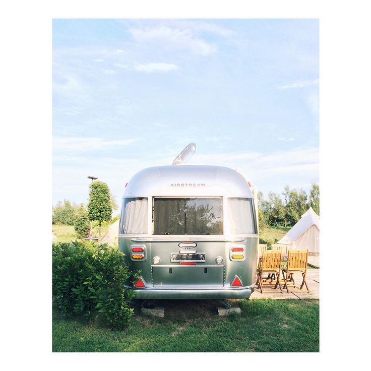 "I could live in this Airstream forever  but for now I'll call it ""home"" during my stay in Venice. #casavio #airstreamlife"