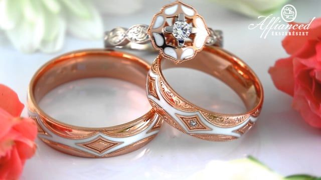 Handcrafted gold wedding rings and engagement rings by Affianced Jewellery. https://www.affianced.hu/en/